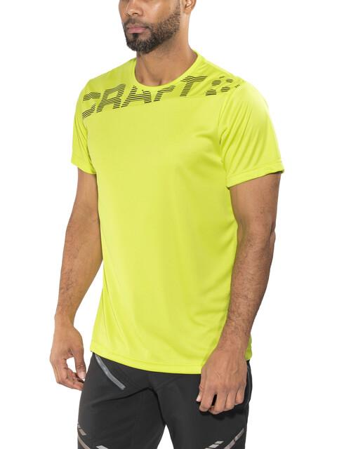 Craft Radiate No.1 Hardloopshirt korte mouwen Heren groen/zwart